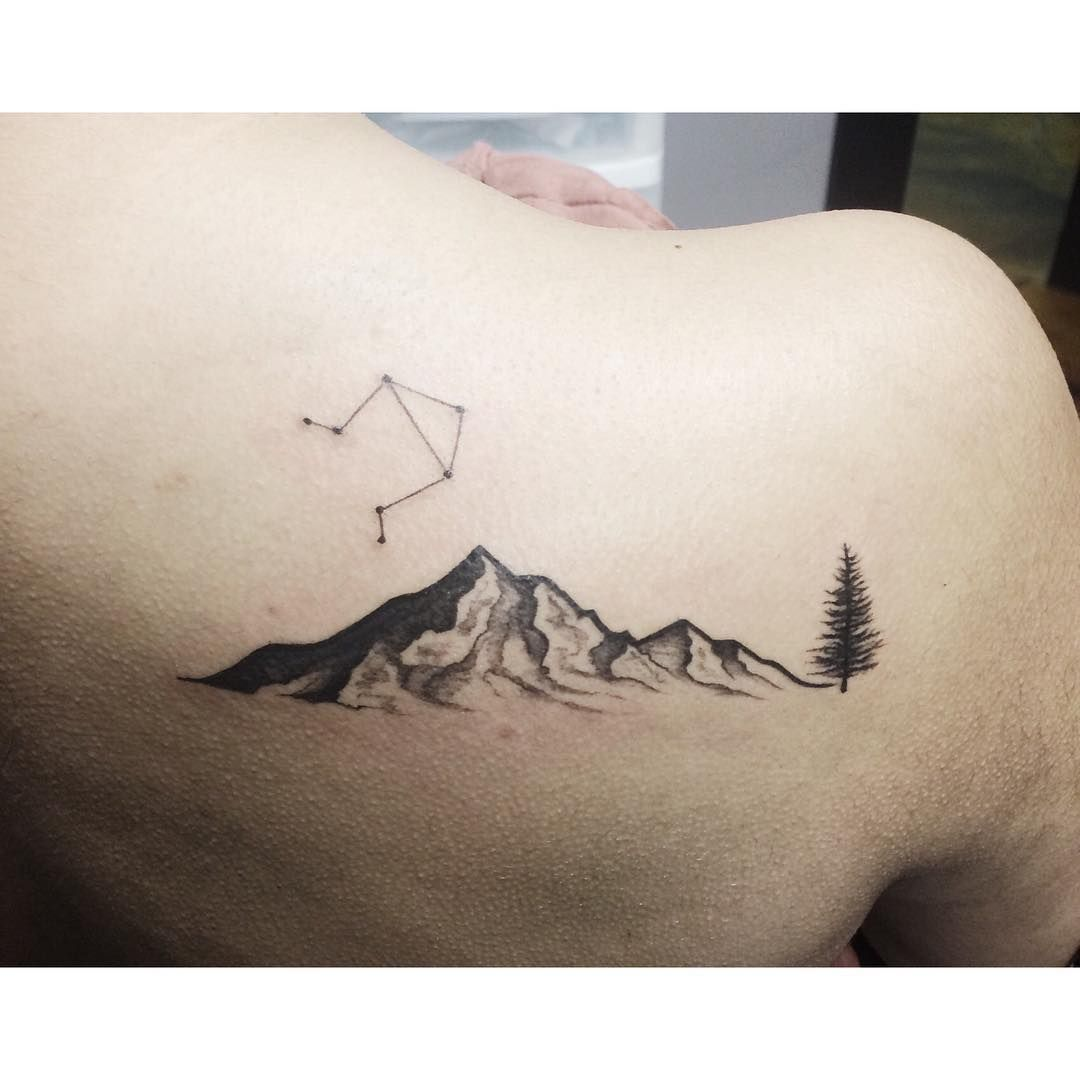 Mountain range tattoo 6