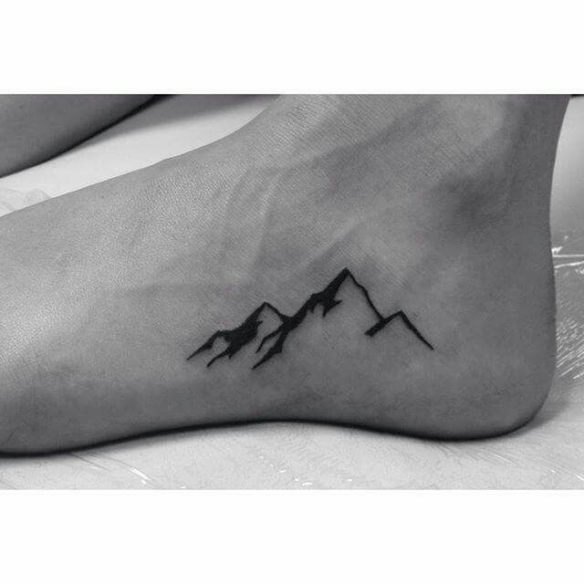 Mountain range tattoo 7