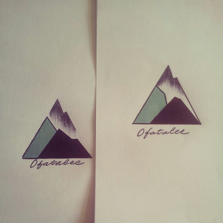geometric mountain tattoo 7
