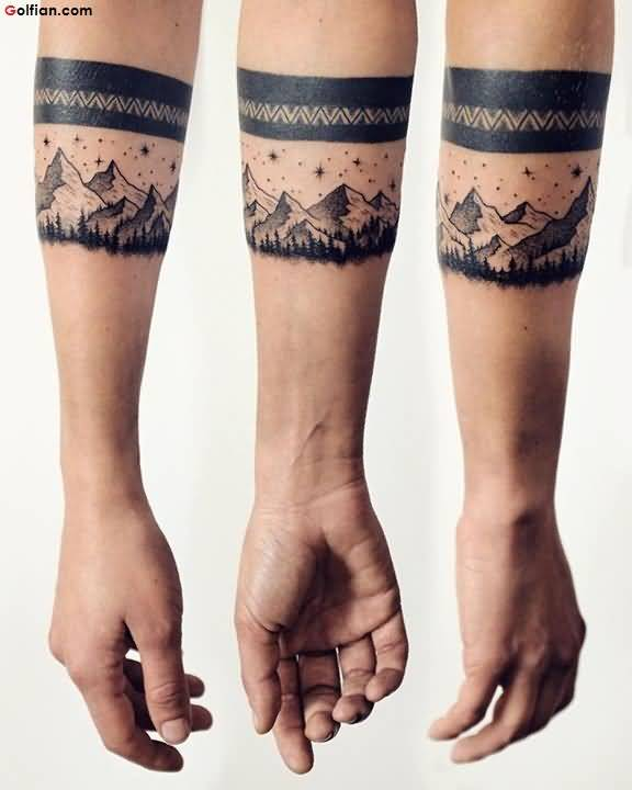 geometric mountain tattoo 8