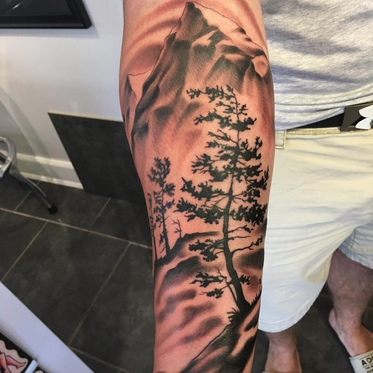 japanese mountain tattoo 3