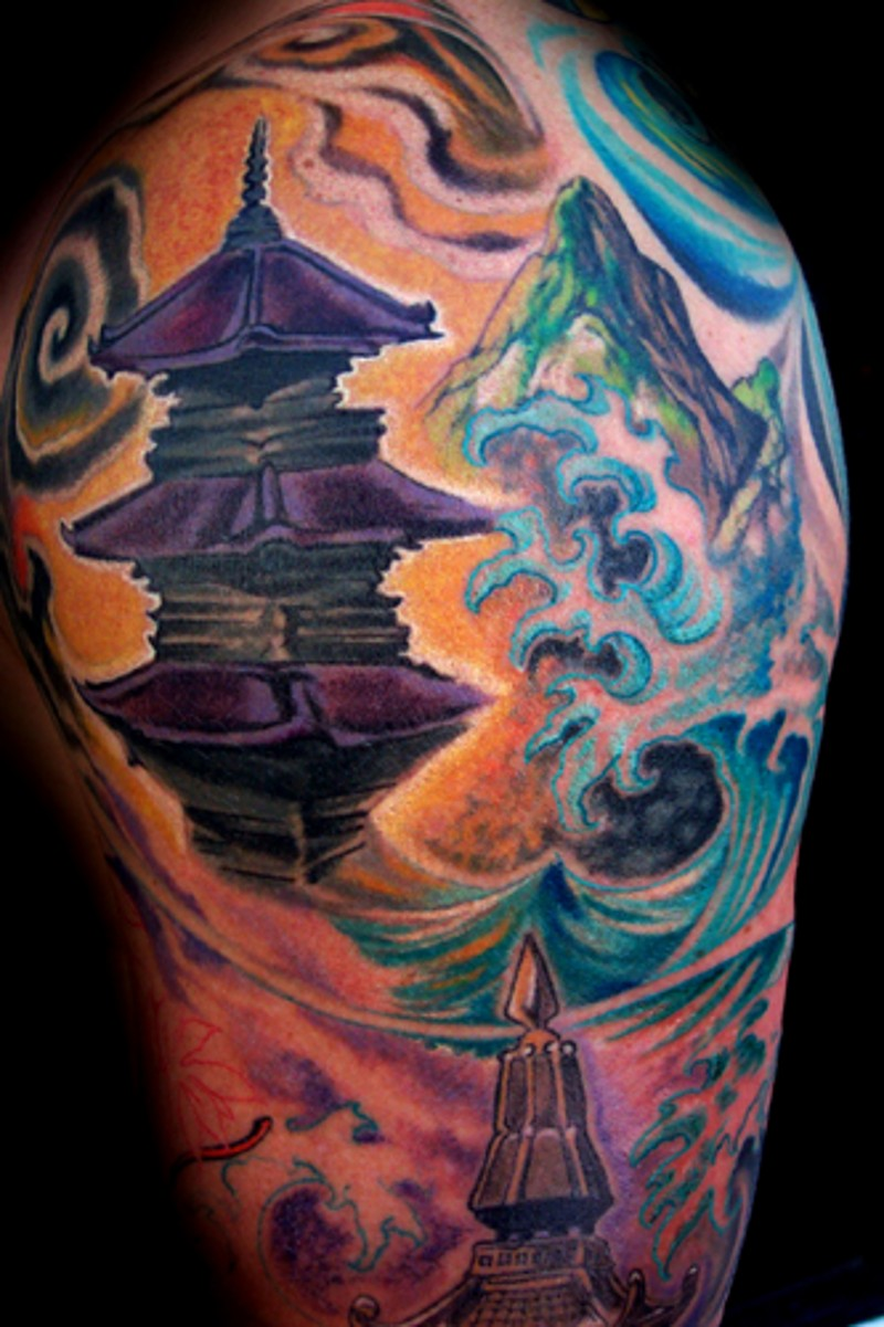 japanese mountain tattoo 6