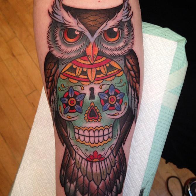 men's sugar skull tattoo 2