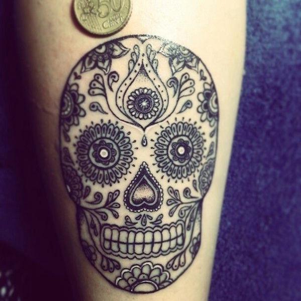 men's sugar skull tattoo 4