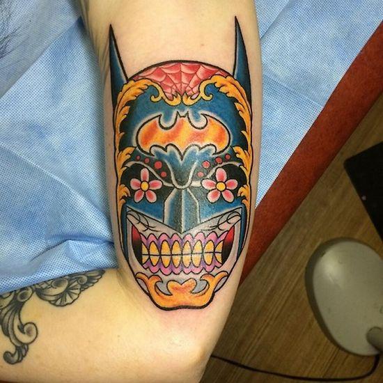men's sugar skull tattoo 5