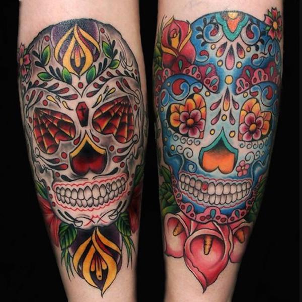men's sugar skull tattoo 9