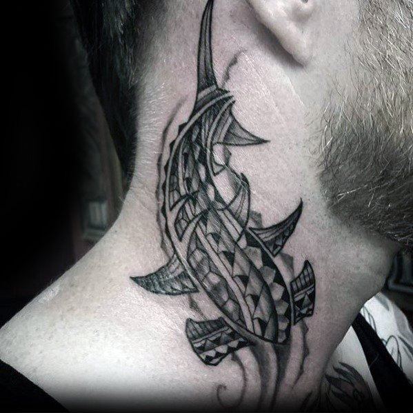 tribal neck tattoo 1
