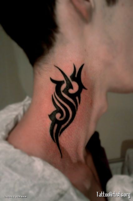 tribal neck tattoo 10