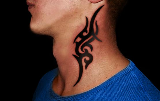 tribal neck tattoo 4