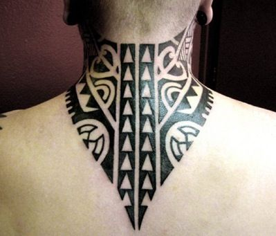 tribal neck tattoo 8