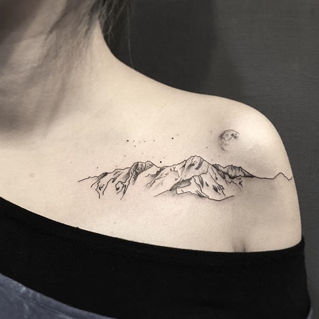 3eae6d08a 50+ Surprisingly Beautiful Mountain Tattoo Designs - Tats 'n' Rings