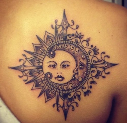 women sun tattoo 3