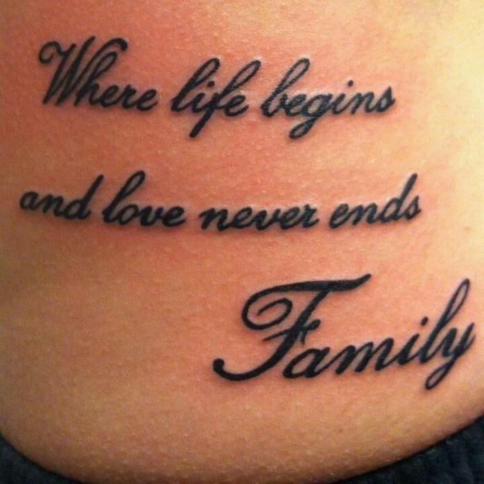 women's family tattoo 8