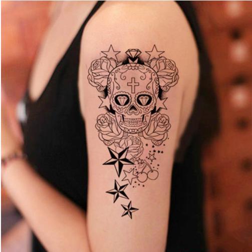 women's sugar skull tattoo 5