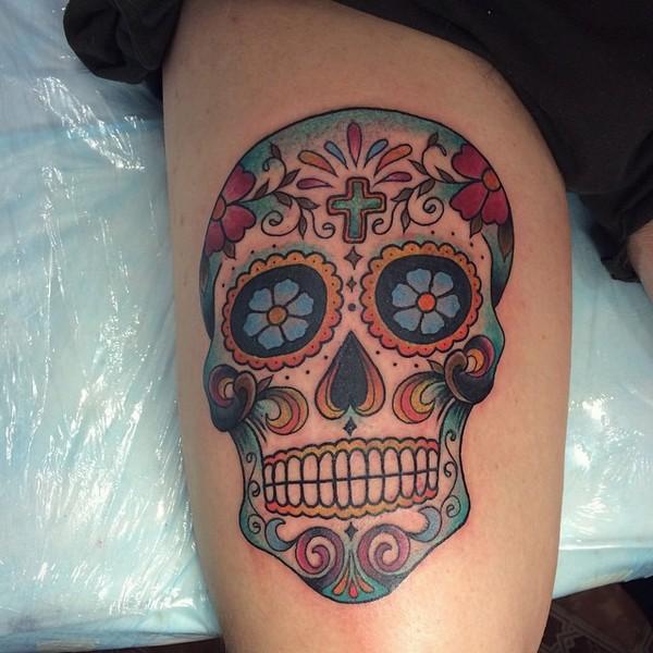 women's sugar skull tattoo 6