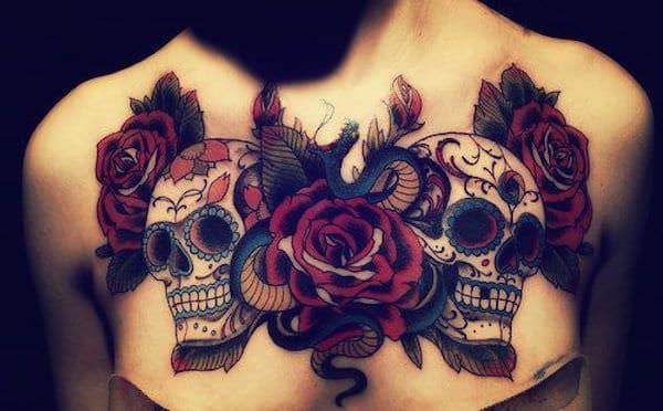 women's sugar skull tattoo 8