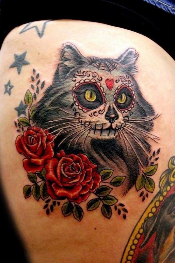 women's sugar skull tattoo 9