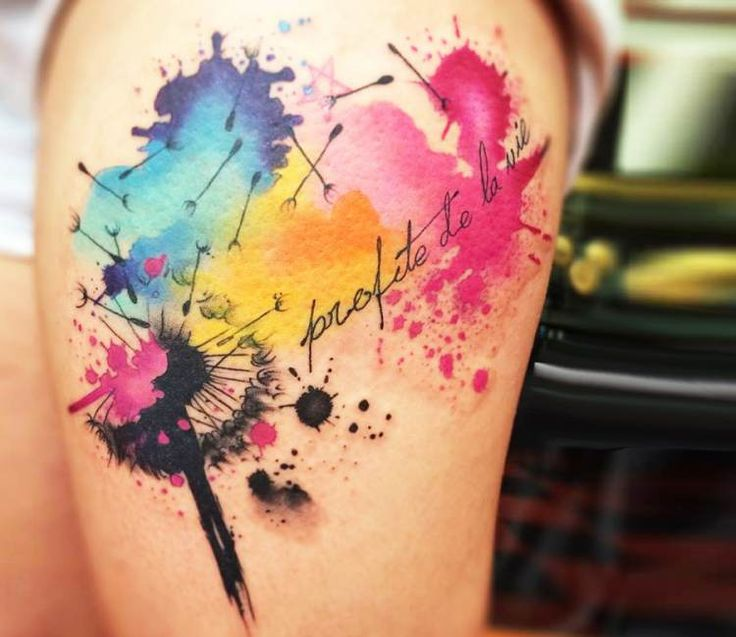 Dandelion-Tattoo-Watercolor