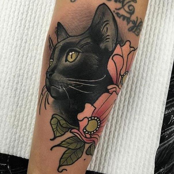 black cat tattoo 5