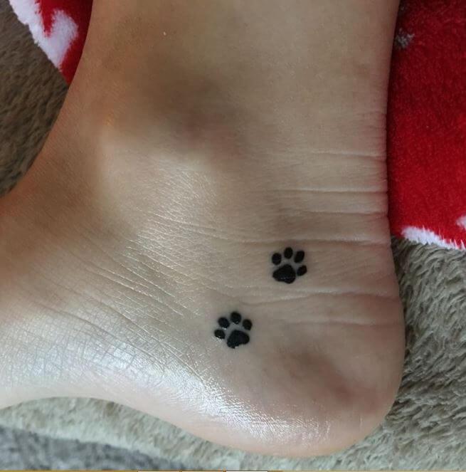 cat paw tattoo 2