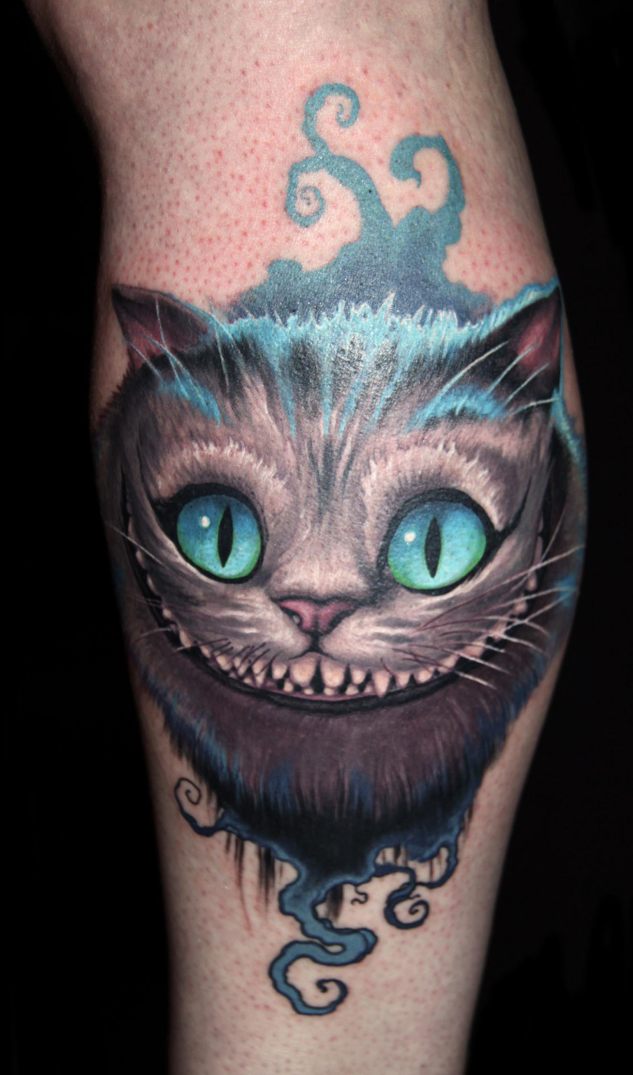 cheshire cat tattoo 1