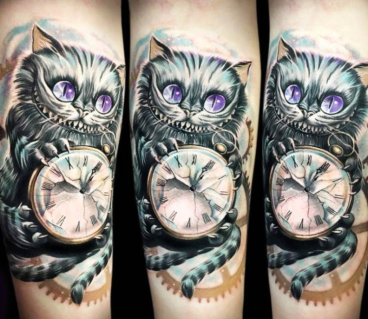 cheshire cat tattoo 3