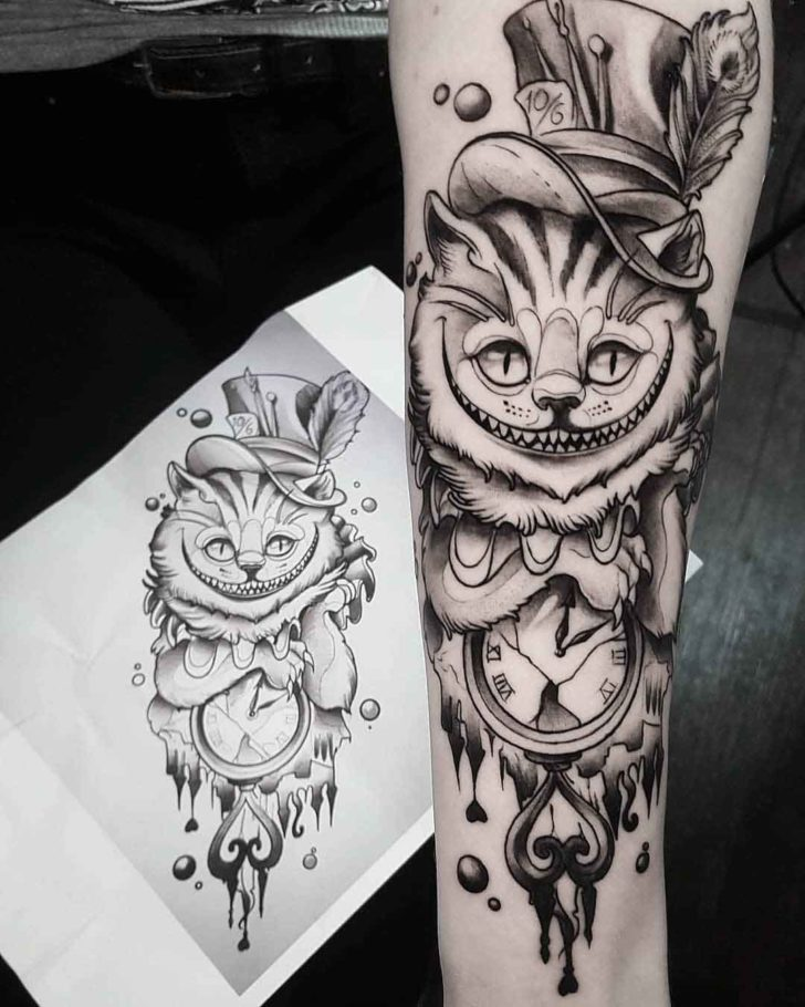 cheshire cat tattoo 4