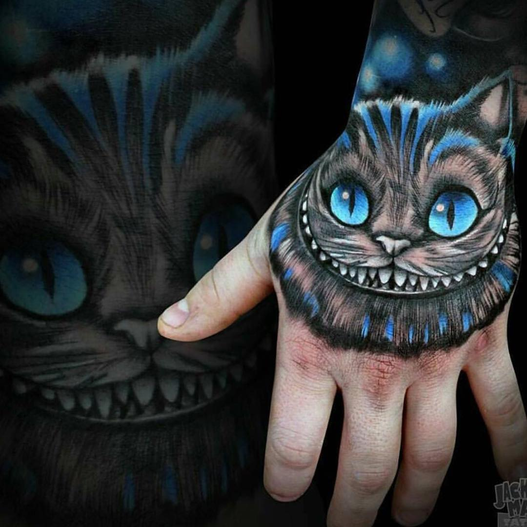 cheshire cat tattoo 5