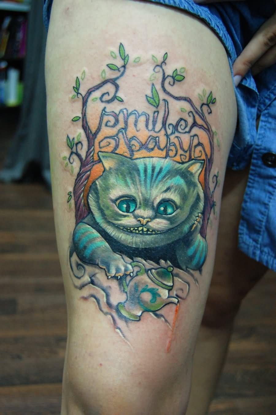cheshire cat tattoo 6