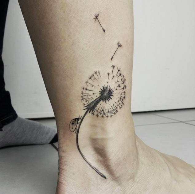 dandelion-ankle-tattoo