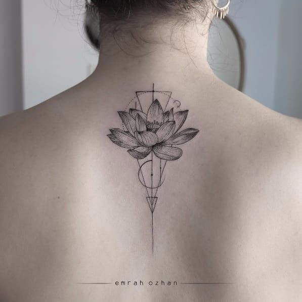 geometric lotus flower tattoo 5