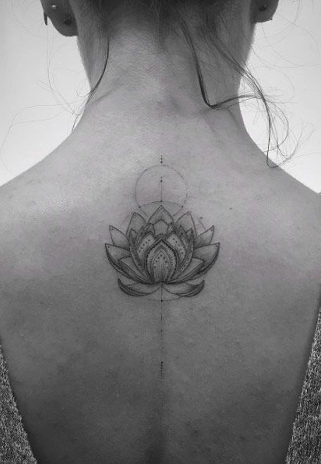 geometric lotus flower tattoo 9