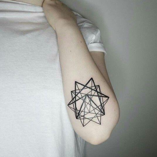 geometric star tattoo 1