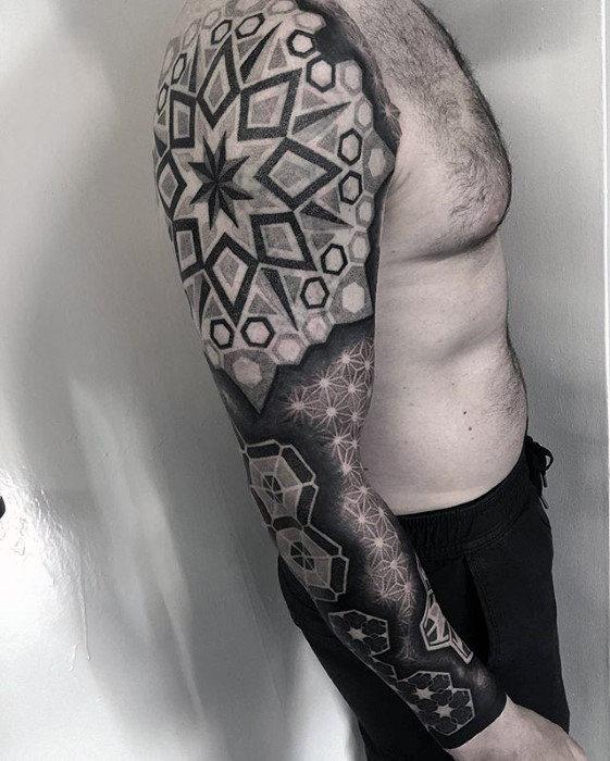 geometric star tattoo 10