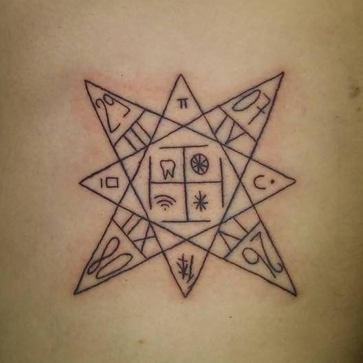 geometric star tattoo 11