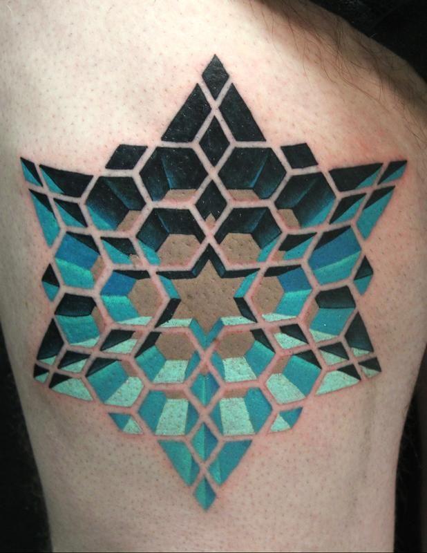 geometric star tattoo 3
