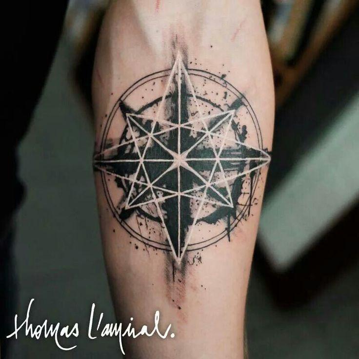 geometric star tattoo 7