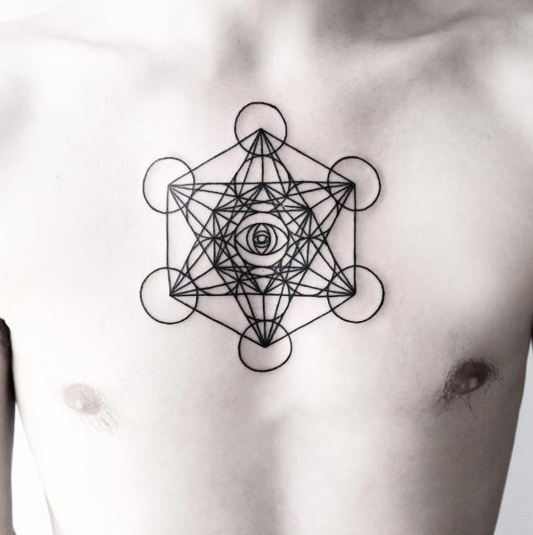 geometric star tattoo 9