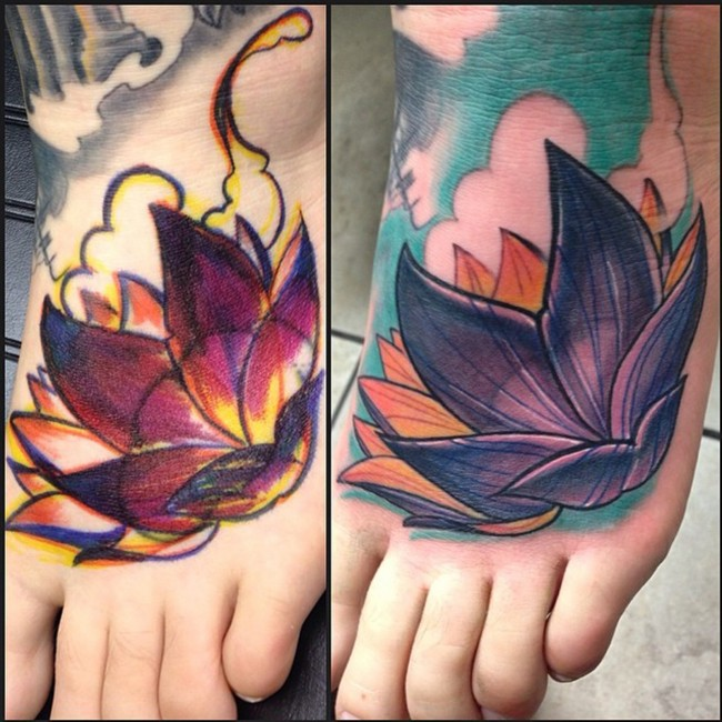 neo lotus flower tattoo 5