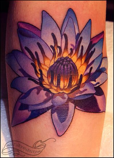 neo lotus flower tattoo 6