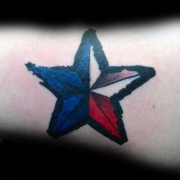 neotraditional star tattoo 4