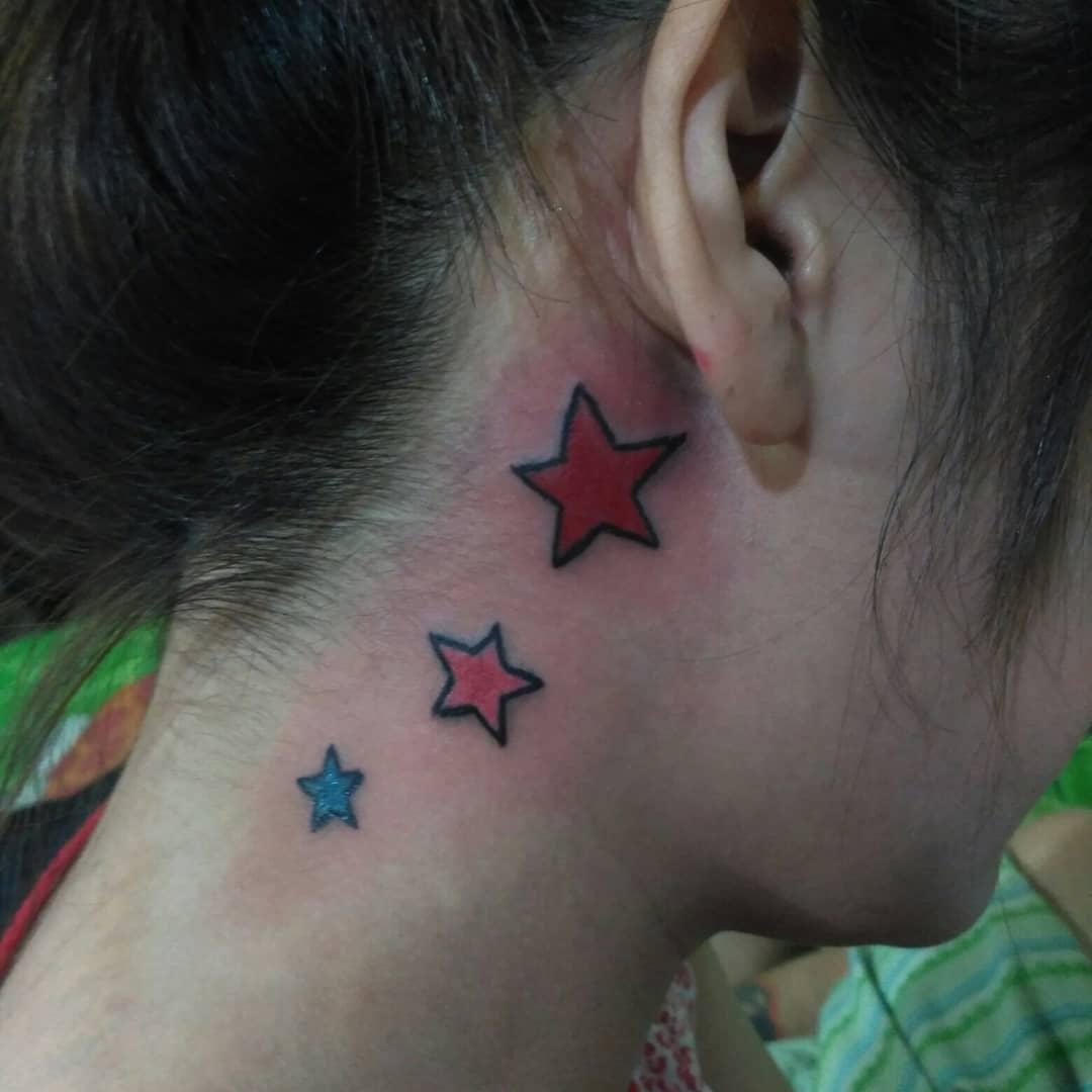 watercolor star tattoo 14