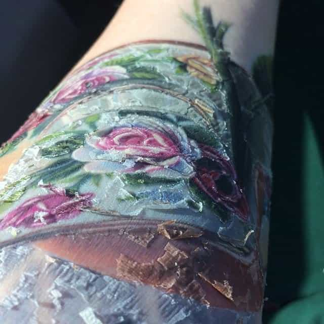 tattoo flaking