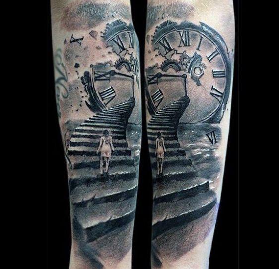 mens-clock-tattoos-designs 1