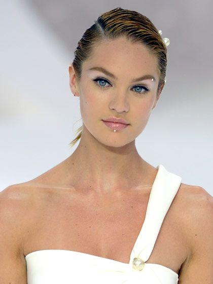 faux eyebrow piercing on a celebrity