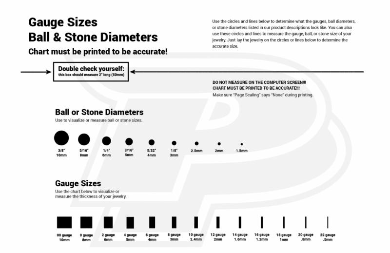 gauge sizes