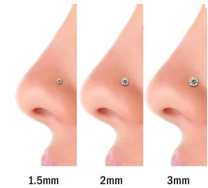 nose stud sizes
