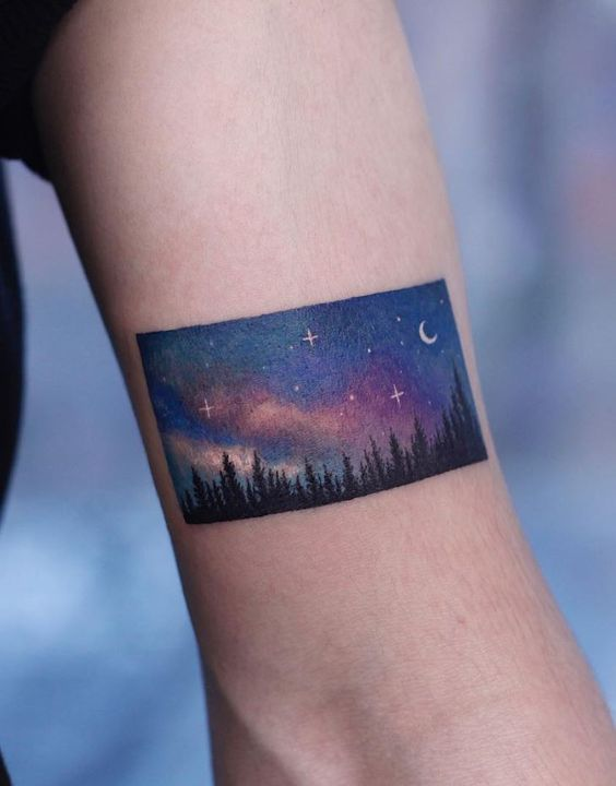 A beautiful tattoo of a beautiful image on the arm
