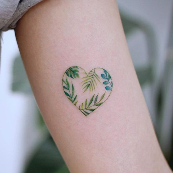 heart tattoo on arm
