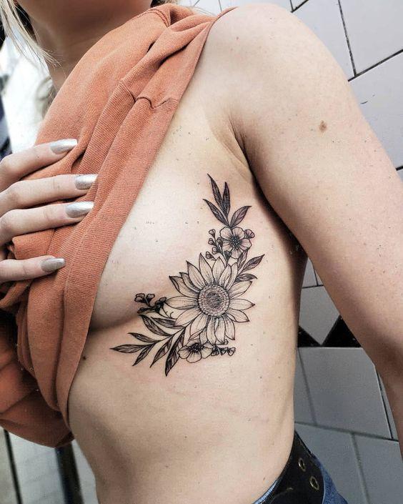 rib cage tattoo